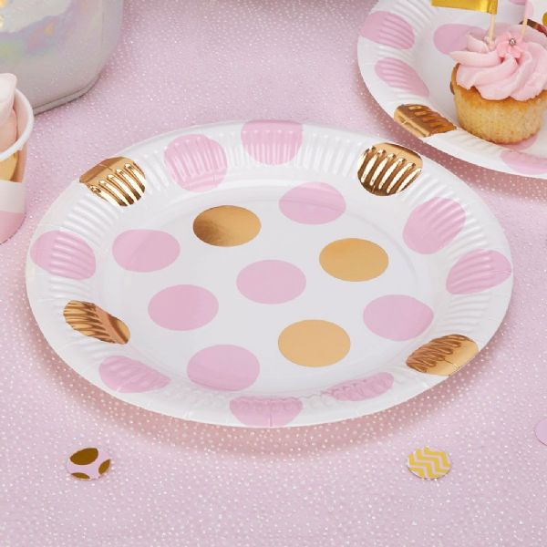 Pattern Works Pink Dots Plates (8)